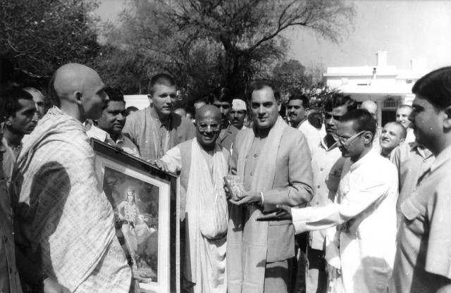 Встреча советских преданных с премьер-министром Индии Радживом Ганди. 1988
