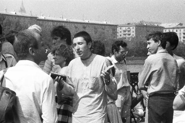Первые распространители книг. 1987-88. Москва|640x424